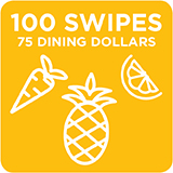 100 Swipes + 75 Dining Dollars $1,015.00