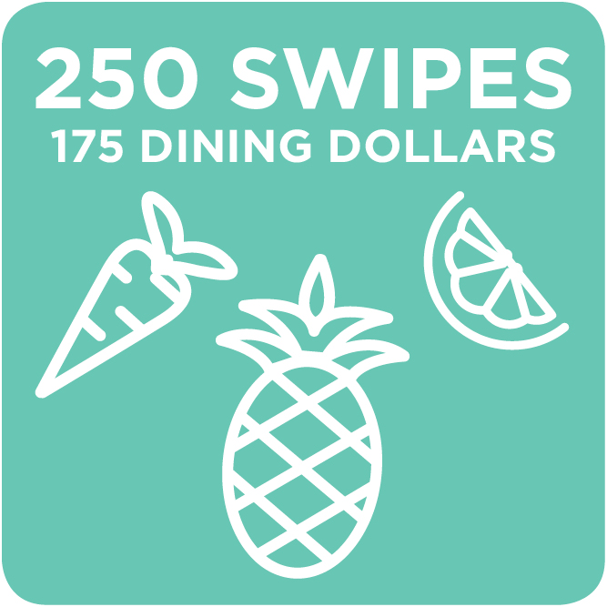 250 Swipes + 175 Dining Dollars