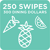250 Swipes + 300 Dining Dollars $2,335.00