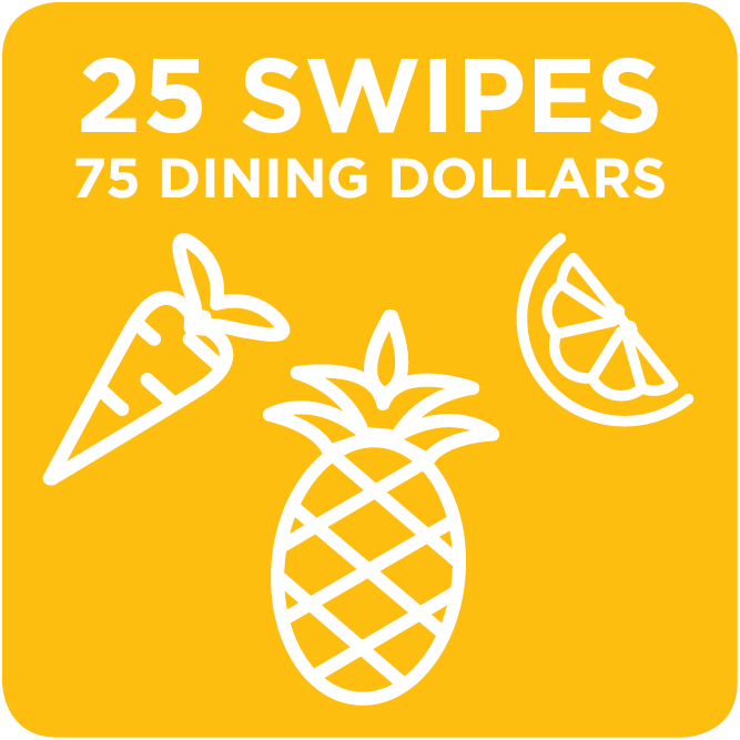 25 Swipes + 75 Dining Dollars