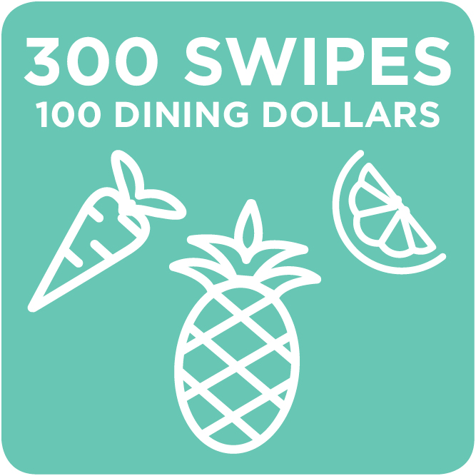 300 Swipes + 100 Dining Dollars