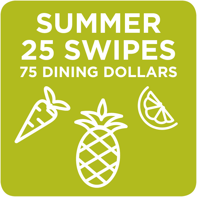 Summer 25 Swipes + 75 Dining Dollars