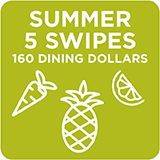 Summer 5 Swipes + 160 Dining Dollars