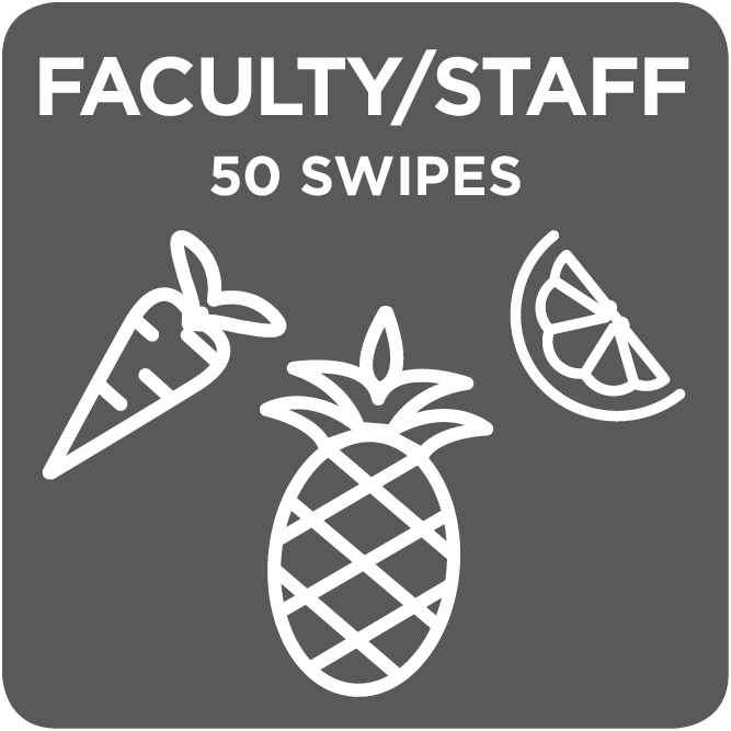 Faculty/ Staff 50 Swipe Payroll Deduction/ Check/ Cash Payment Option