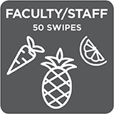 Faculty/ Staff 50 Swipe Payroll Deduction/ Check/ Cash Payment Option $540.00